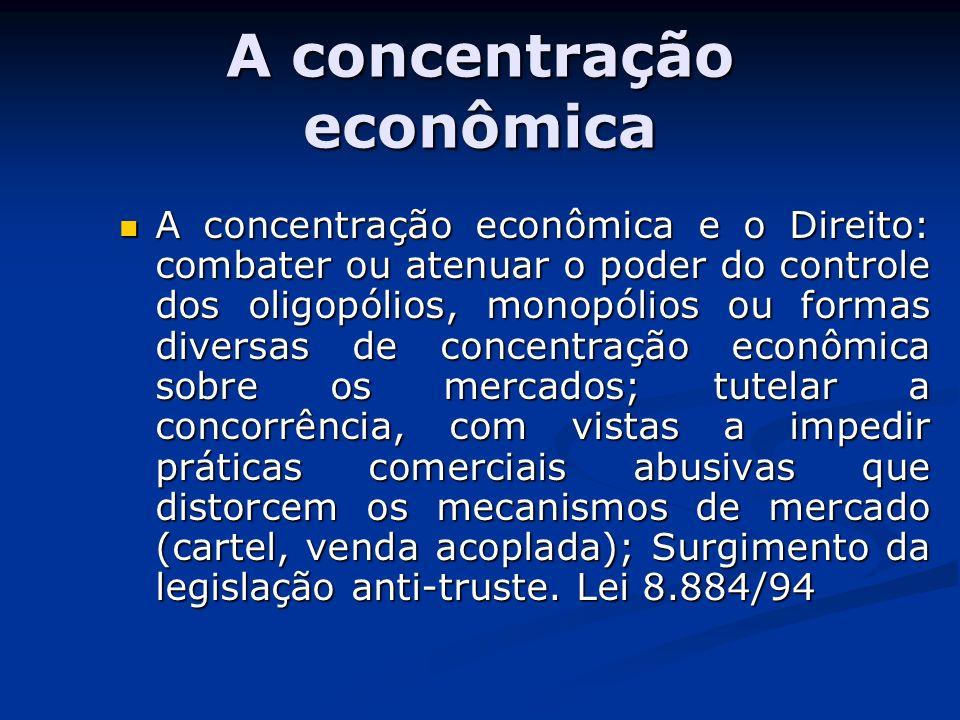 A concentração econômica