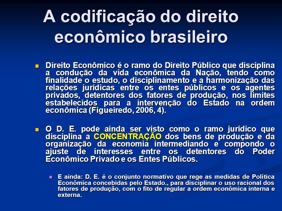 A codificação do direito econômico brasileiro