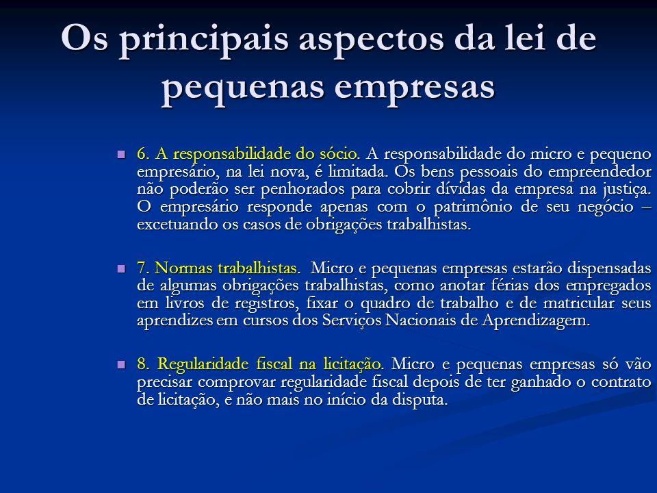 Os principais aspectos da lei de pequenas empresas