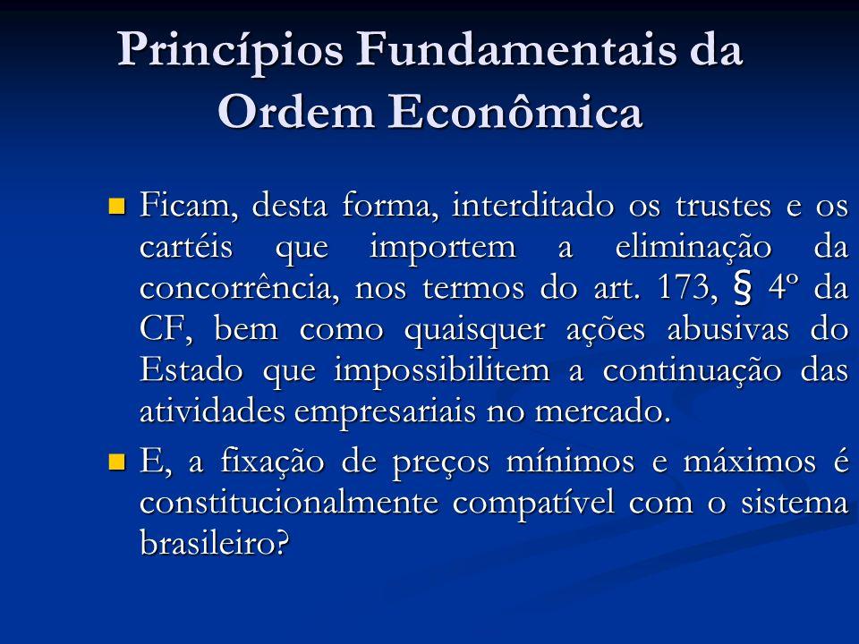 Princípios Fundamentais da Ordem Econômica