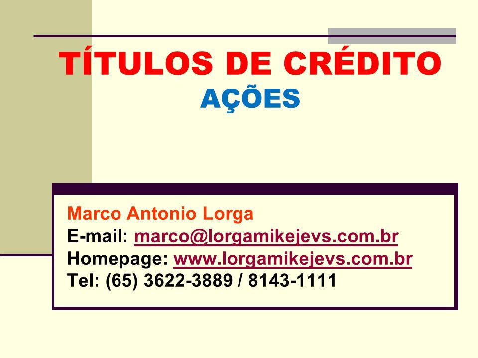 TÍTULOS DE CRÉDITO AÇÕES