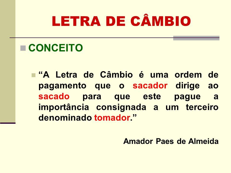 LETRA DE CÂMBIO CONCEITO