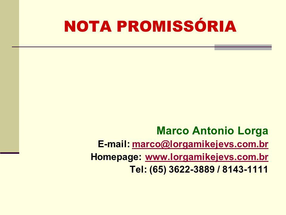 NOTA PROMISSÓRIA Marco Antonio Lorga
