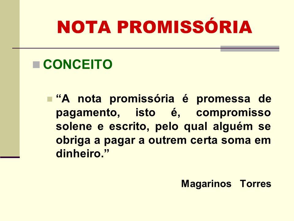 NOTA PROMISSÓRIA CONCEITO