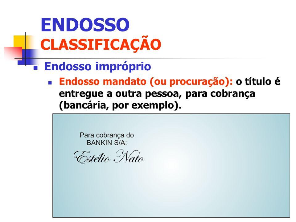 ENDOSSO CLASSIFICAÇÃO