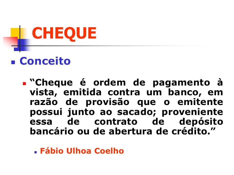 CHEQUE Conceito.