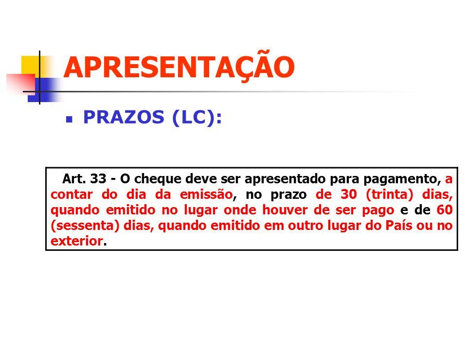 APRESENTAÇÃO PRAZOS (LC):