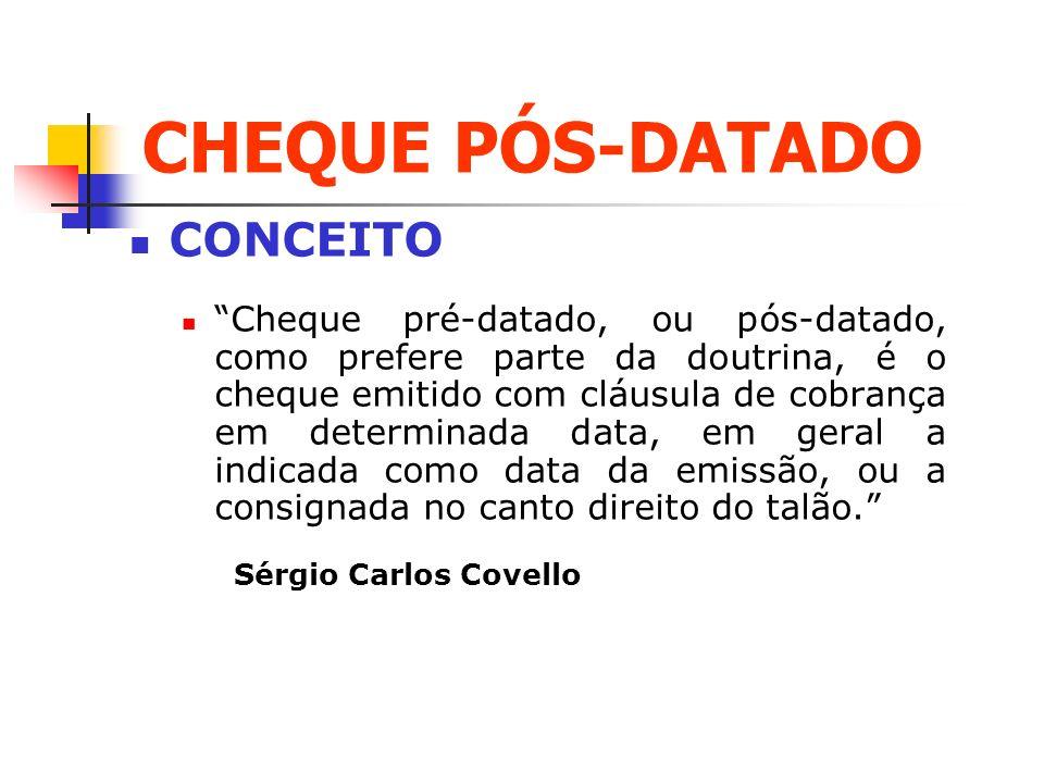 CHEQUE PÓS-DATADO CONCEITO