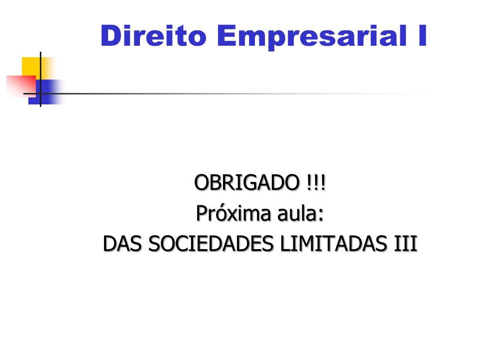 DAS SOCIEDADES LIMITADAS III