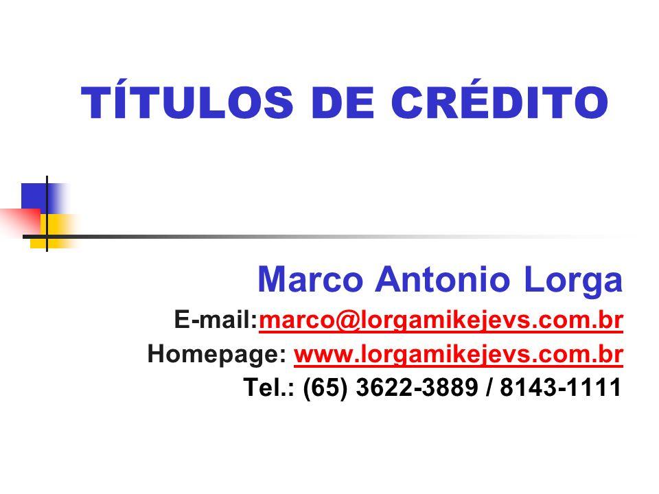 TÍTULOS DE CRÉDITO Marco Antonio Lorga