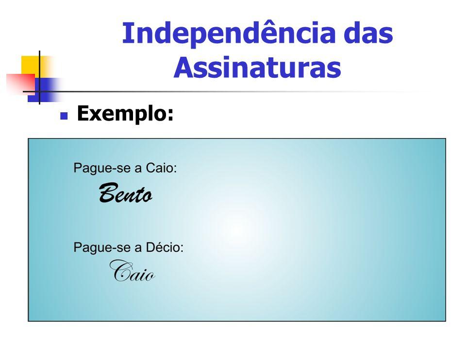 Independência das Assinaturas