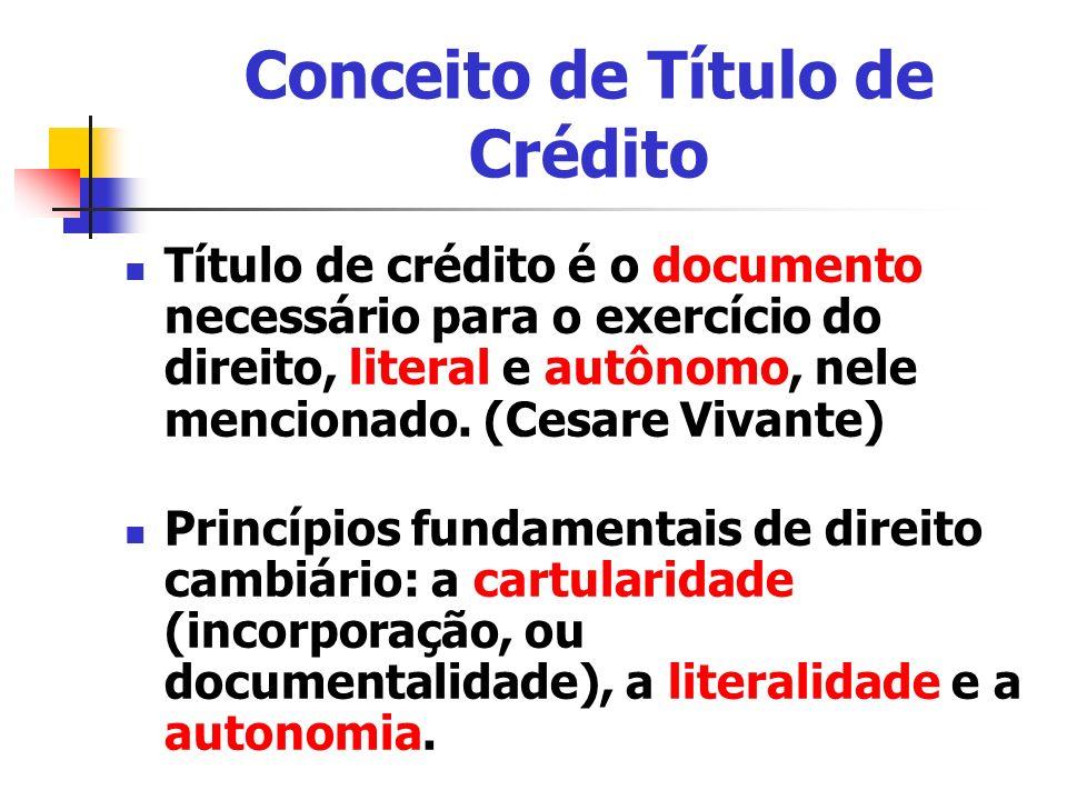Conceito de Título de Crédito