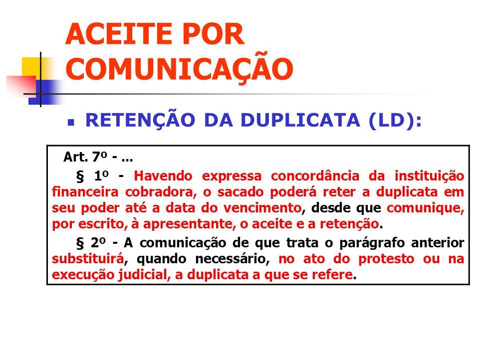 ACEITE POR COMUNICAÇÃO