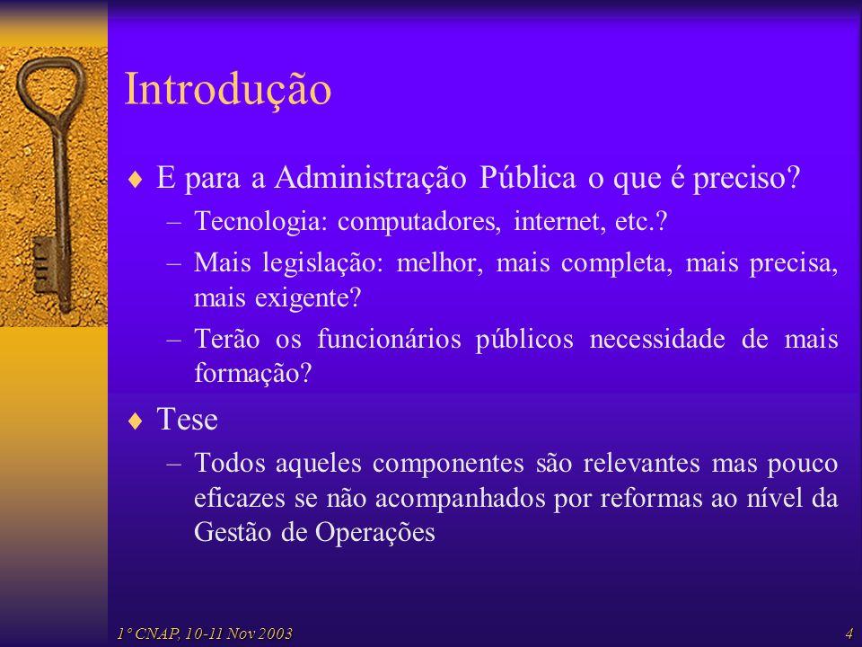 Introdução E para a Administração Pública o que é preciso Tese