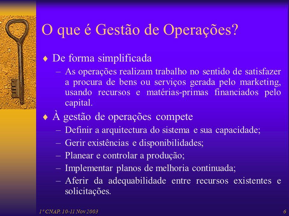O que é Gestão de Operações