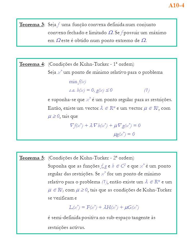 A10-4 Teorema 3: Seja f uma função convexa definida num conjunto