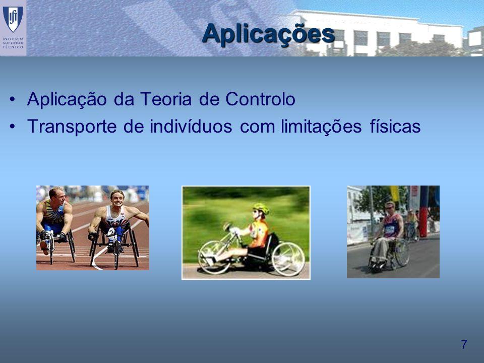 Aplicações Aplicação da Teoria de Controlo