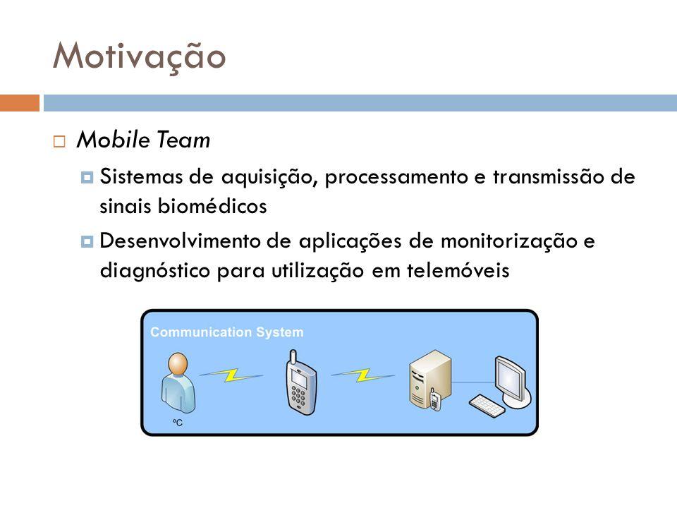 Motivação Mobile Team. Sistemas de aquisição, processamento e transmissão de sinais biomédicos.