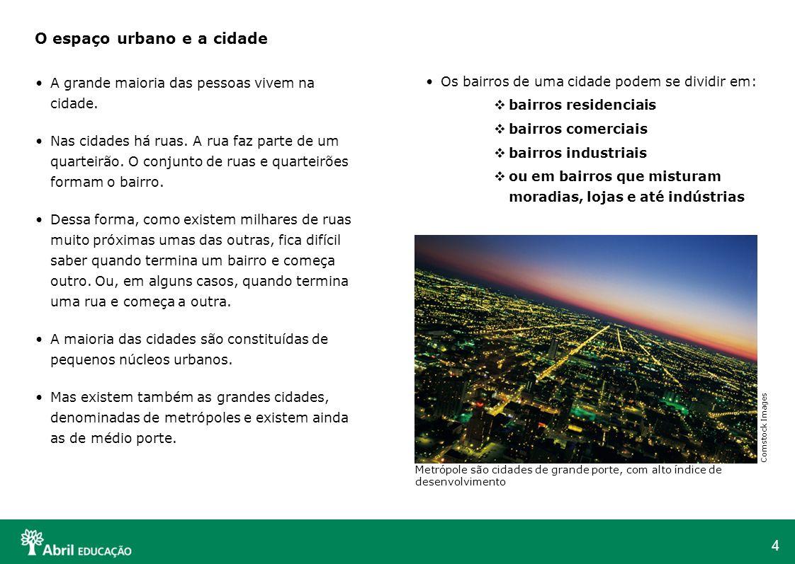 O espaço urbano e a cidade