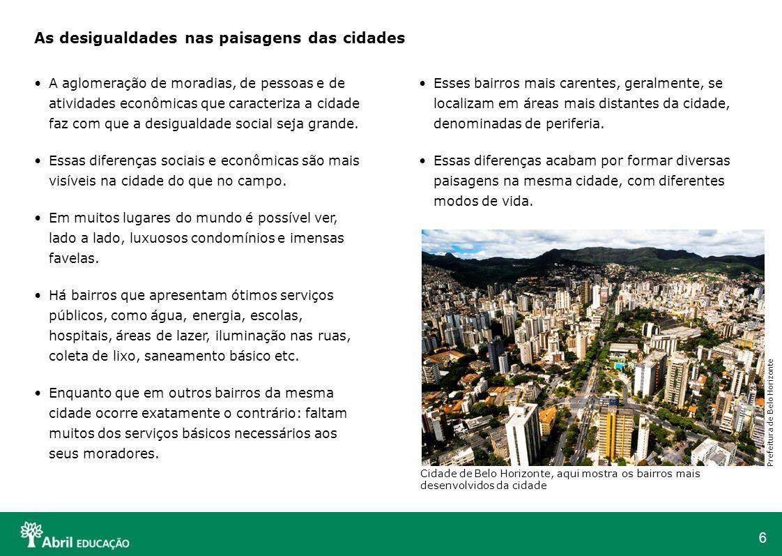 As desigualdades nas paisagens das cidades