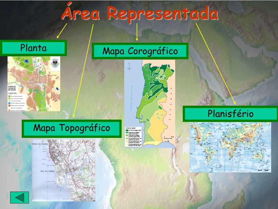Área Representada Planta Mapa Corográfico Planisfério Mapa Topográfico