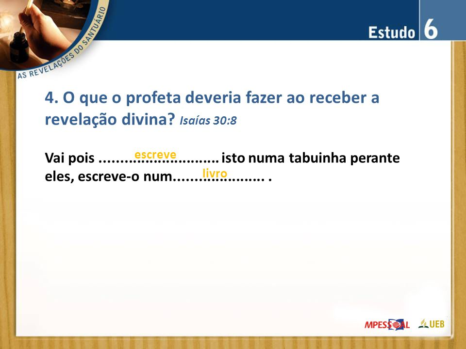 4. O que o profeta deveria fazer ao receber a revelação divina