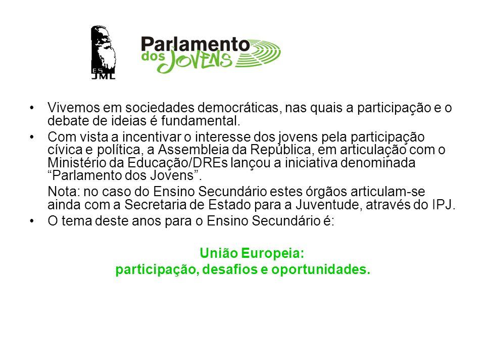 participação, desafios e oportunidades.