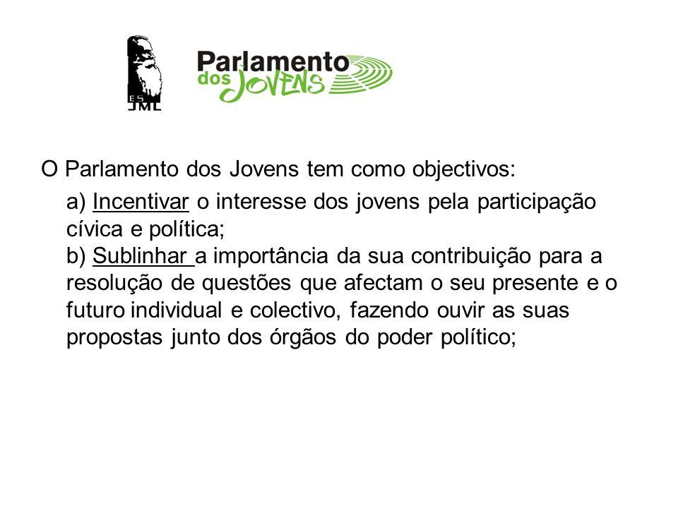 O Parlamento dos Jovens tem como objectivos: