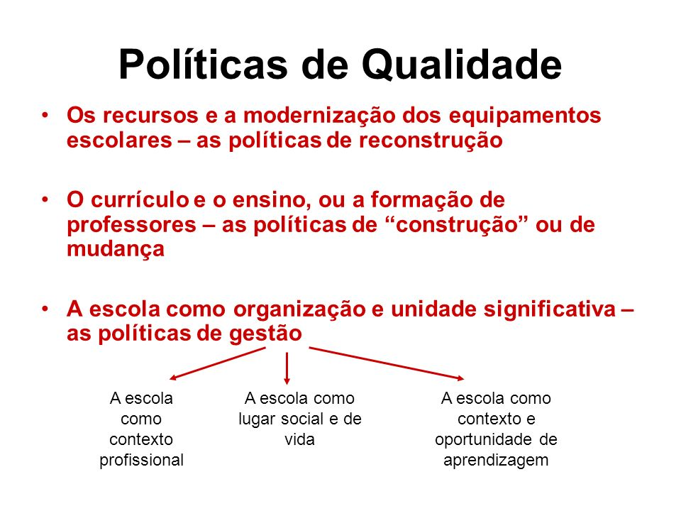 Políticas de Qualidade