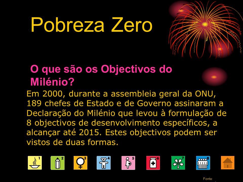 Pobreza Zero O que são os Objectivos do Milénio