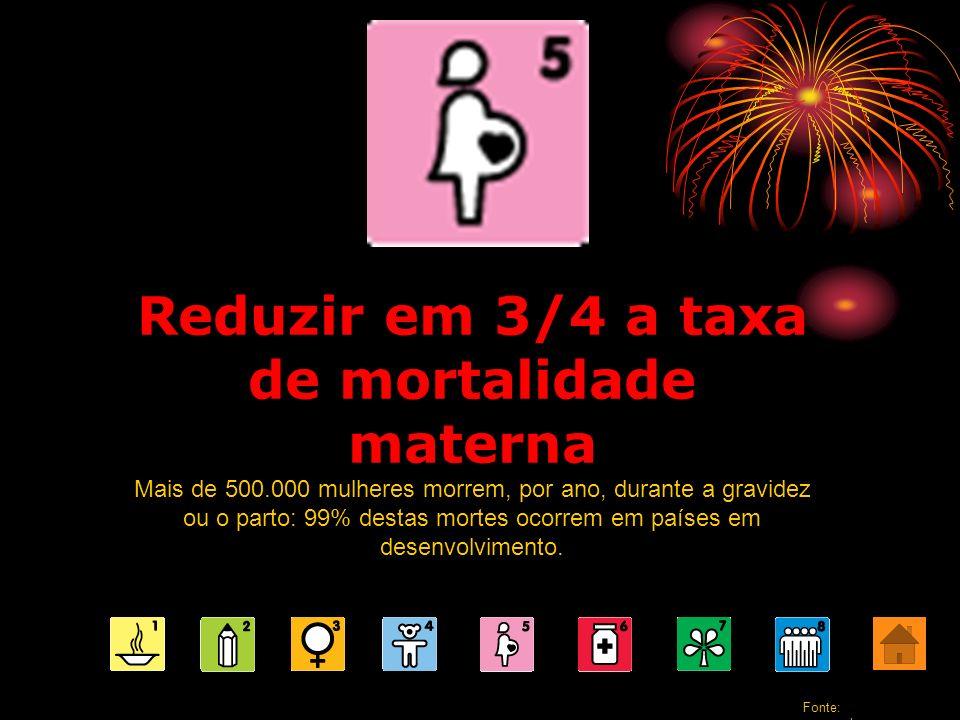 Reduzir em 3/4 a taxa de mortalidade materna Mais de 500