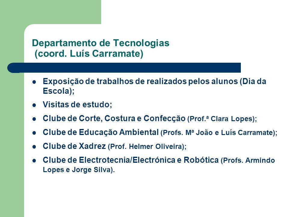 Departamento de Tecnologias (coord. Luís Carramate)