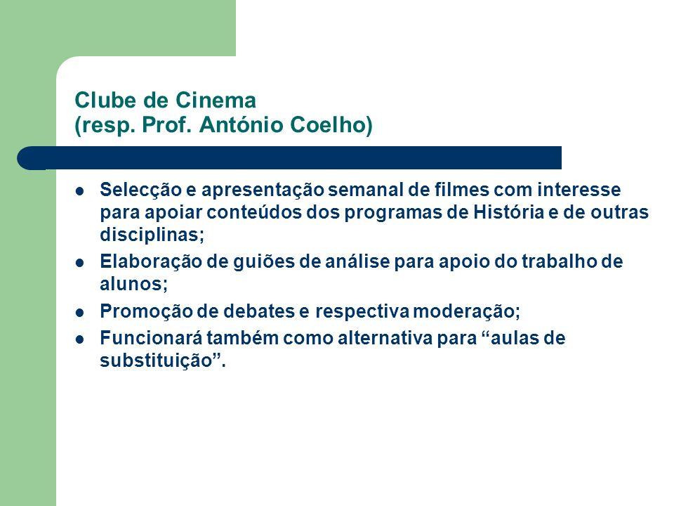 Clube de Cinema (resp. Prof. António Coelho)