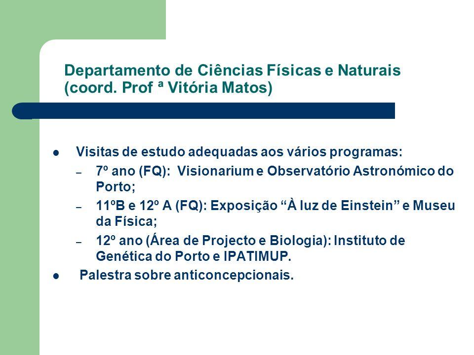 Departamento de Ciências Físicas e Naturais (coord