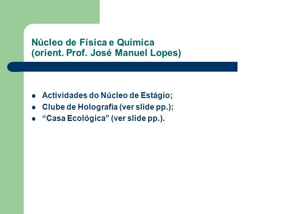 Núcleo de Física e Química (orient. Prof. José Manuel Lopes)