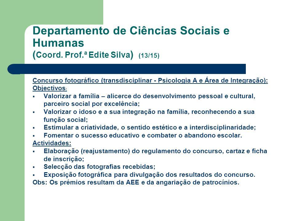 Departamento de Ciências Sociais e Humanas (Coord. Prof