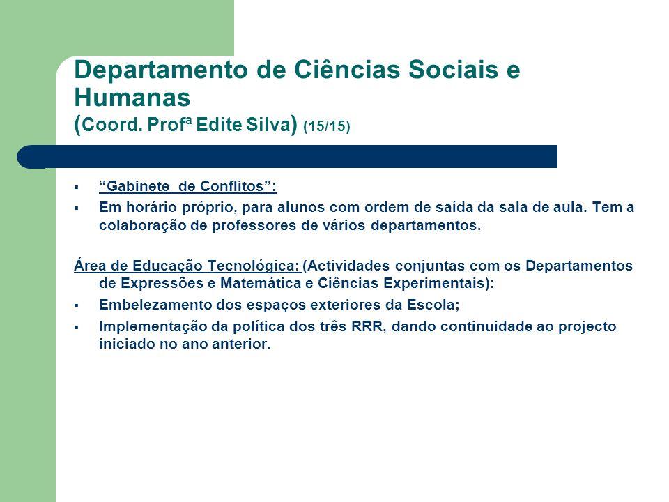 Departamento de Ciências Sociais e Humanas (Coord