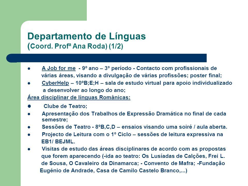 Departamento de Línguas (Coord. Profª Ana Roda) (1/2)