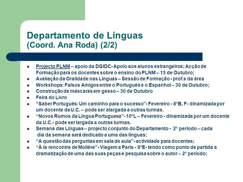 Departamento de Línguas (Coord. Ana Roda) (2/2)