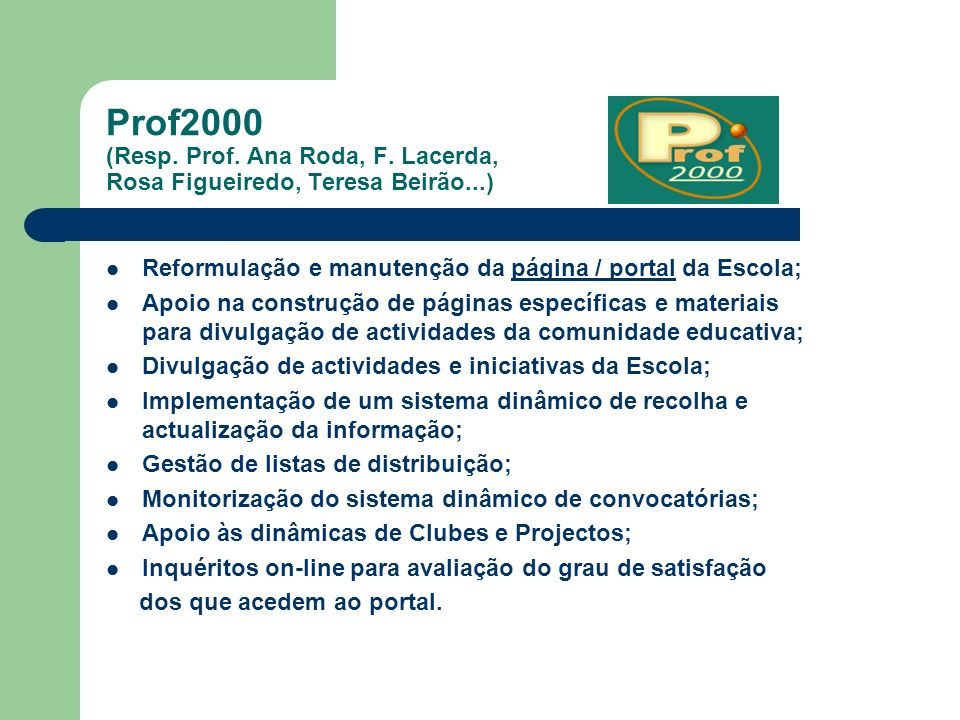Prof2000 (Resp. Prof. Ana Roda, F