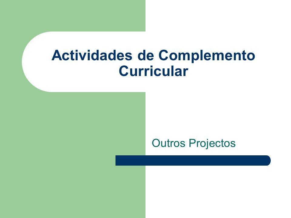 Actividades de Complemento Curricular