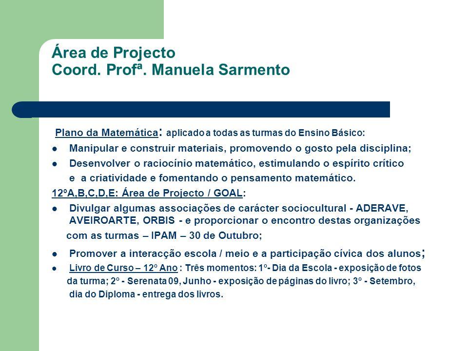 Área de Projecto Coord. Profª. Manuela Sarmento