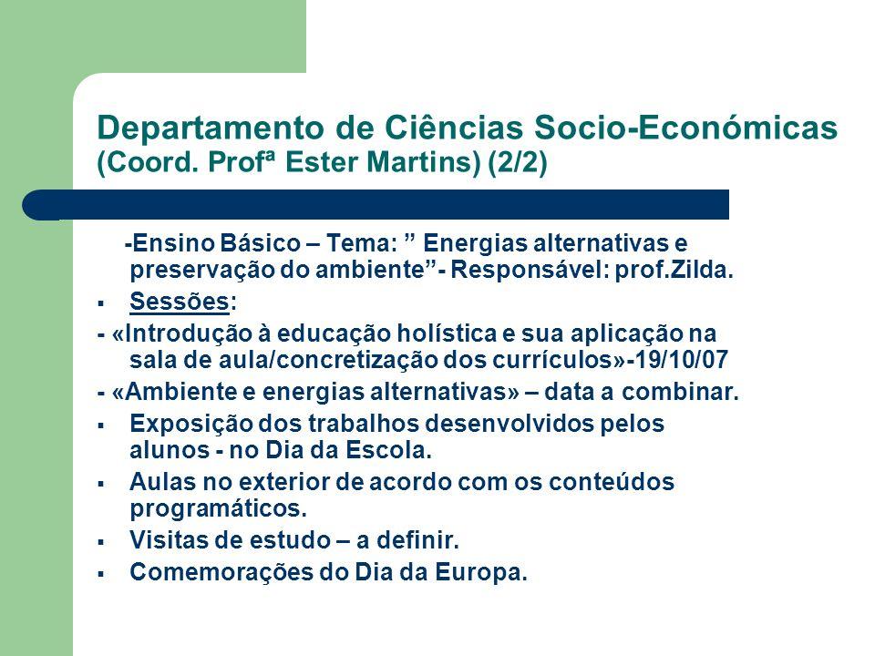 Departamento de Ciências Socio-Económicas (Coord