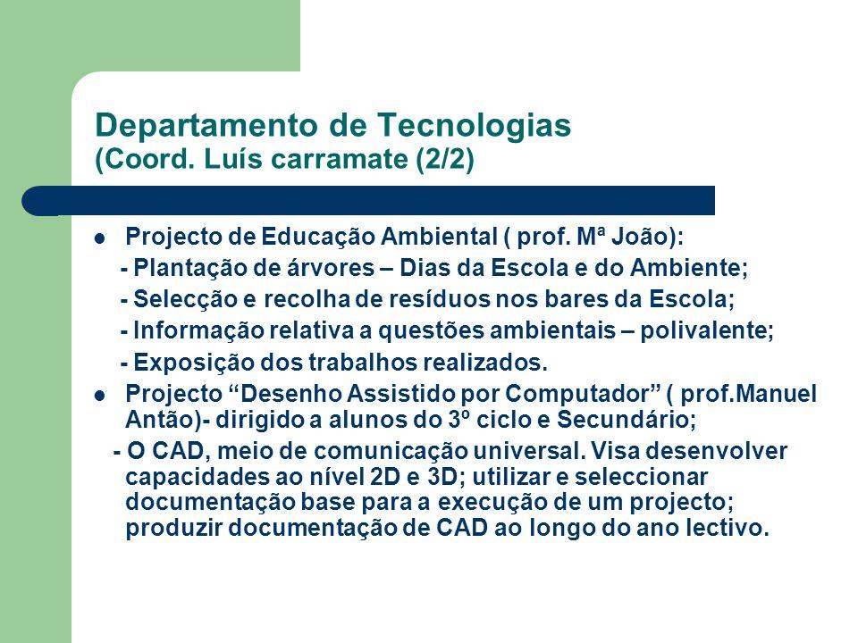 Departamento de Tecnologias (Coord. Luís carramate (2/2)