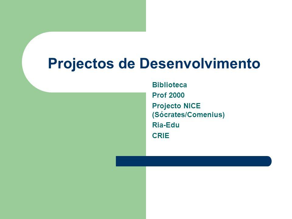 Projectos de Desenvolvimento
