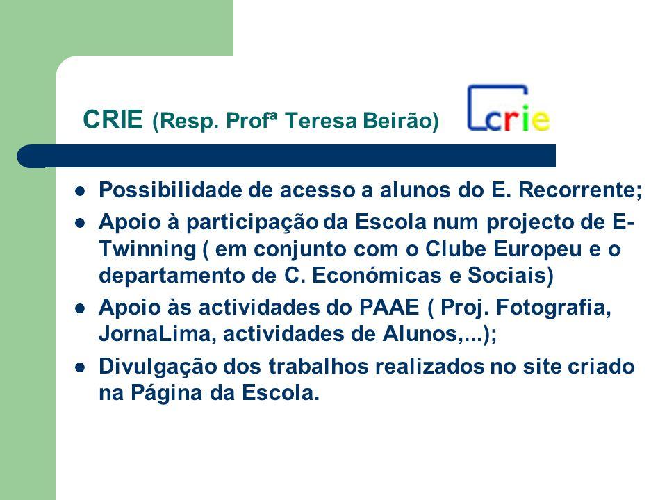 CRIE (Resp. Profª Teresa Beirão)