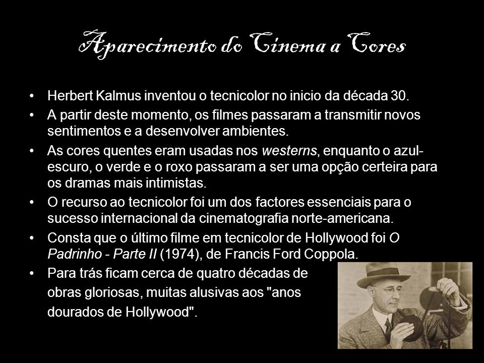 Aparecimento do Cinema a Cores
