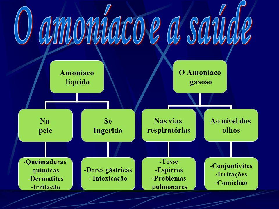 O amoníaco e a saúde