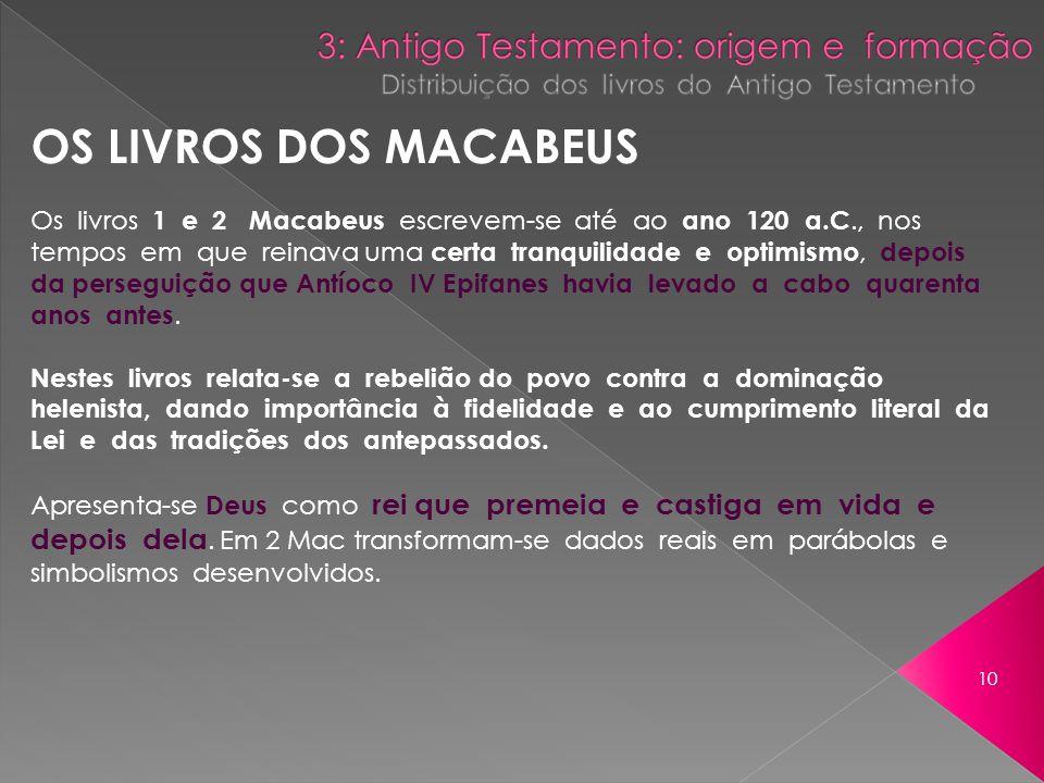 OS LIVROS DOS MACABEUS