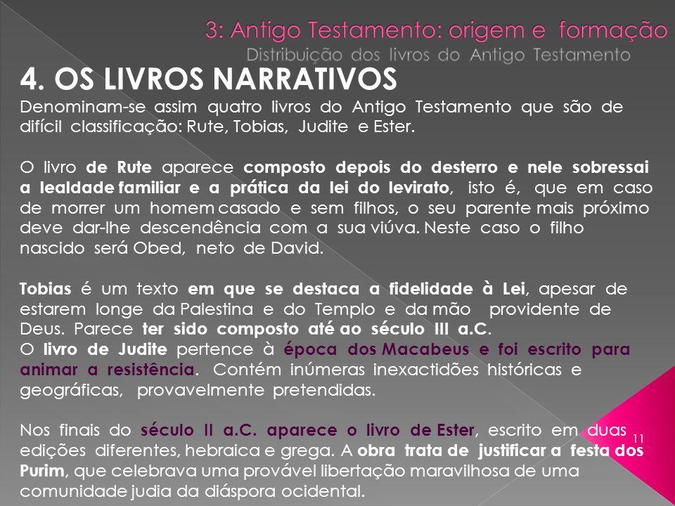 4. OS LIVROS NARRATIVOS